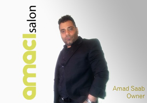 Amad Saab, owner of Amaci Salon , one of the highest rated Boston beauty salons.